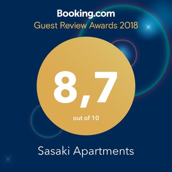Guest Review Awards 2018 from Booking.com. 8,7 out of 10.